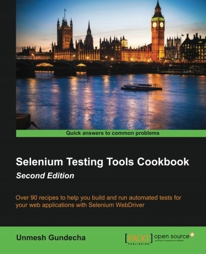 selenium testing tools cookbook cover
